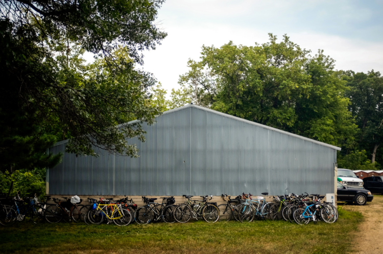 Bikes line the side of shed at Square Lake Music & Film Festival 2014 // Photo by Nate Ryan, MPR