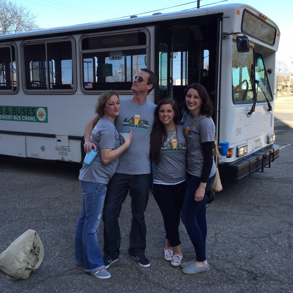 2015 Brews & Buses: St. Paul Brewery Bus Crawl // Photo via GetKnit Events Facebook page