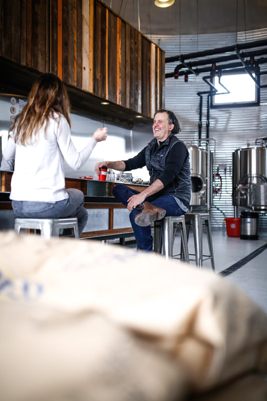 Bang Brewing's Jay and Sandy Boss Febbo // Photo by Aaron Davidson