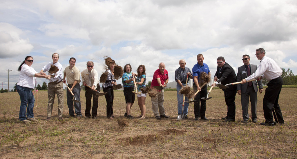 Owners Laura Subak and John Moore breaking ground with local and state officials // Photos by Nita Dusek Photography