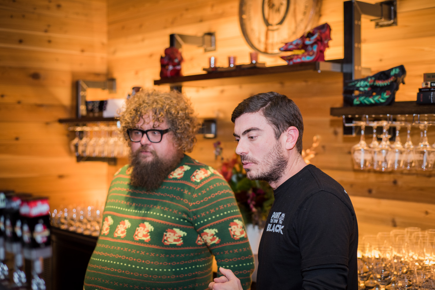 Jerrod Johnson and Ben Smith behind the bar in the Brewer's Table // Photo by Kevin Kramer