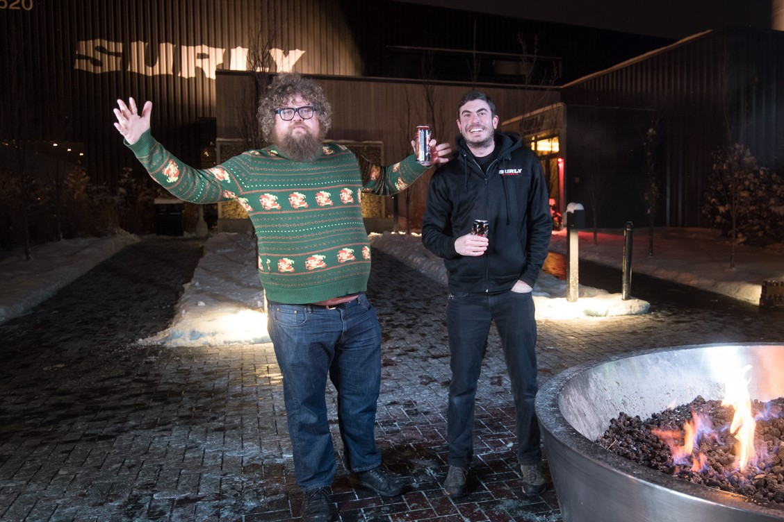 Jerrod Johnson and Ben Smith, the new head brewers of Surly Brewing // Photo by Kevin Kramer