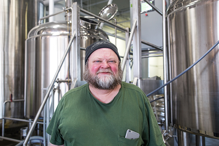Scott Johnson, owner and founder of BlackStack Brewing // Photo by Aaron Davidson
