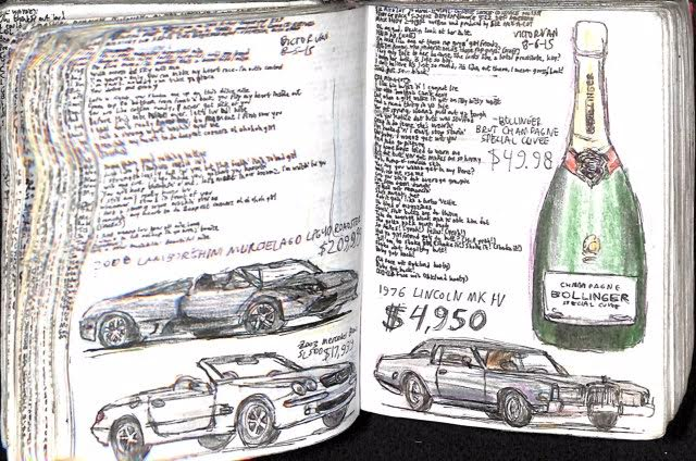 Bottle and Cars Drawing (1)