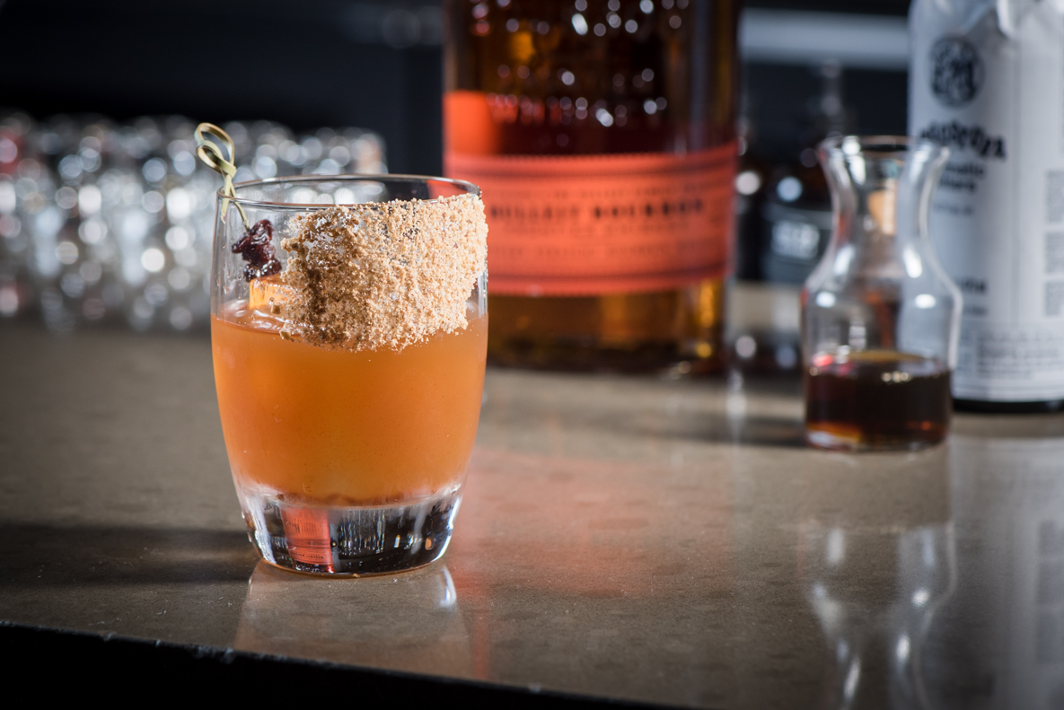 "Your recipe for holiday cheer: the maple-whiskey ""oat fashioned"" // Photo by Kevin Kramer, The Growler"