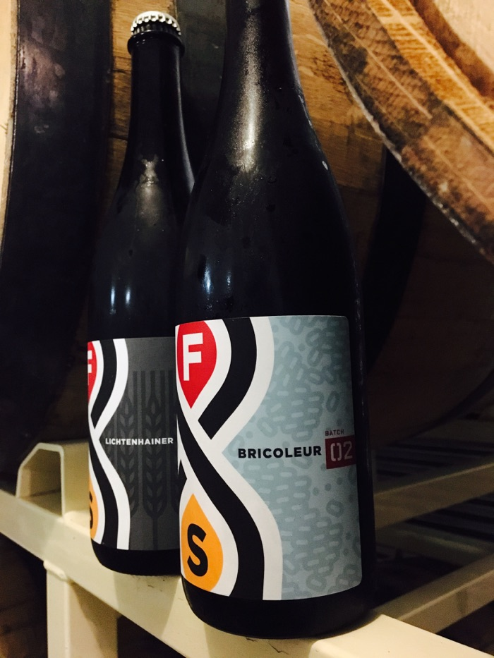 The two newest mixed-fermentation releases, Bricoleur #2 and Lichtenhainer // Photo courtesy of FSBC