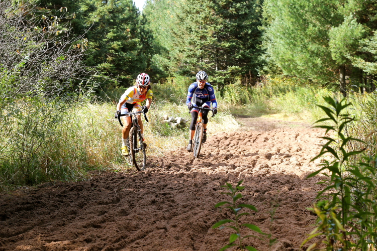 Riders plow through a dirt trail // Photo by Jeff Frane