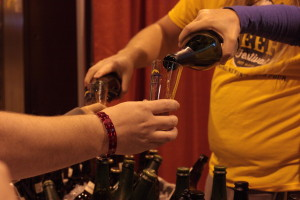 Pouring New Glarus at the GABF // Photo by Brian Kaufenberg