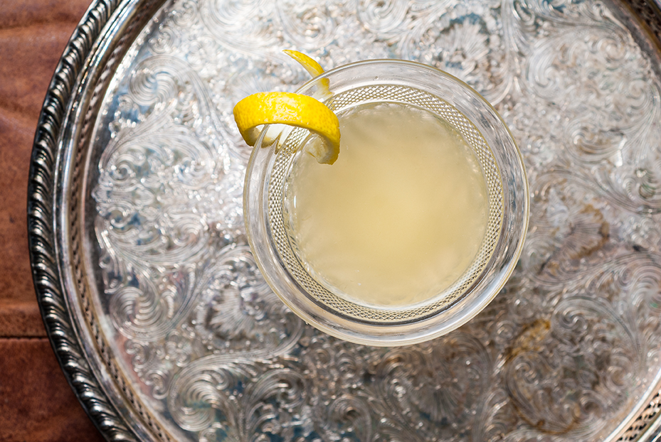 Cocktail with lemon rind // Photo by Kevin Kramer