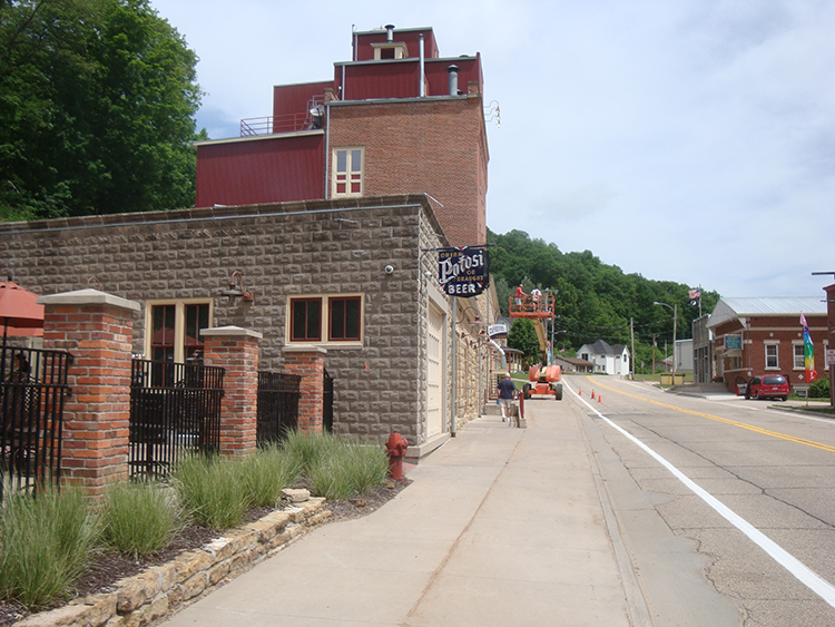 """The Potosi Brewing Company and its beer garden lie along what is claimed to be """"the world's longest main street without a cross street."""" // Photo by Doug Hoverson"""
