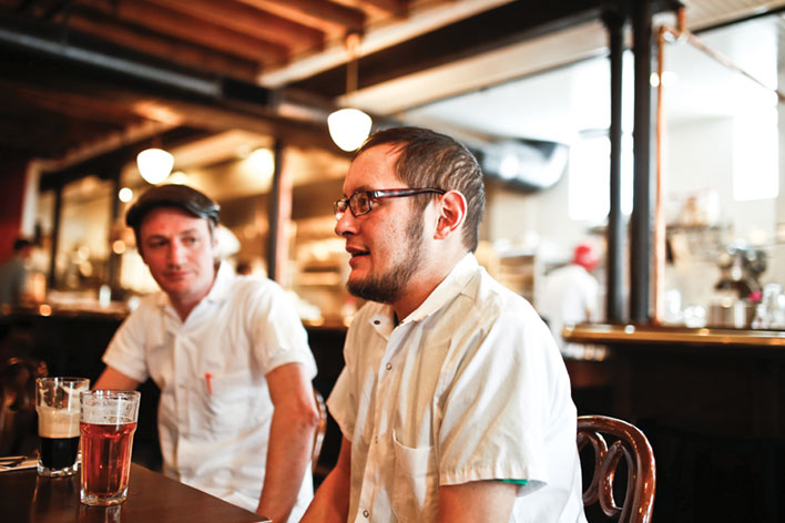 Geoff King (r) at The Draft Horse // Photo by Aaron Davidson, Growler Magazine