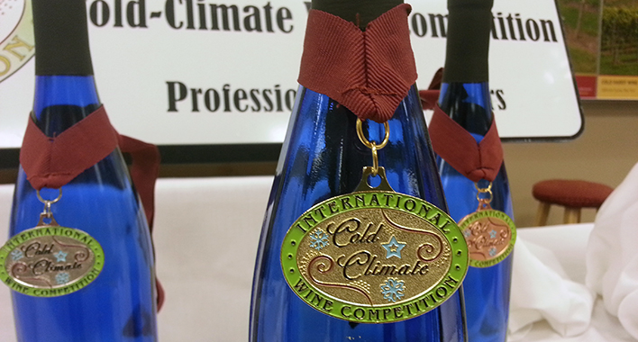 Medals from the International Cold Climate Wine Competition / Photo by John Garland