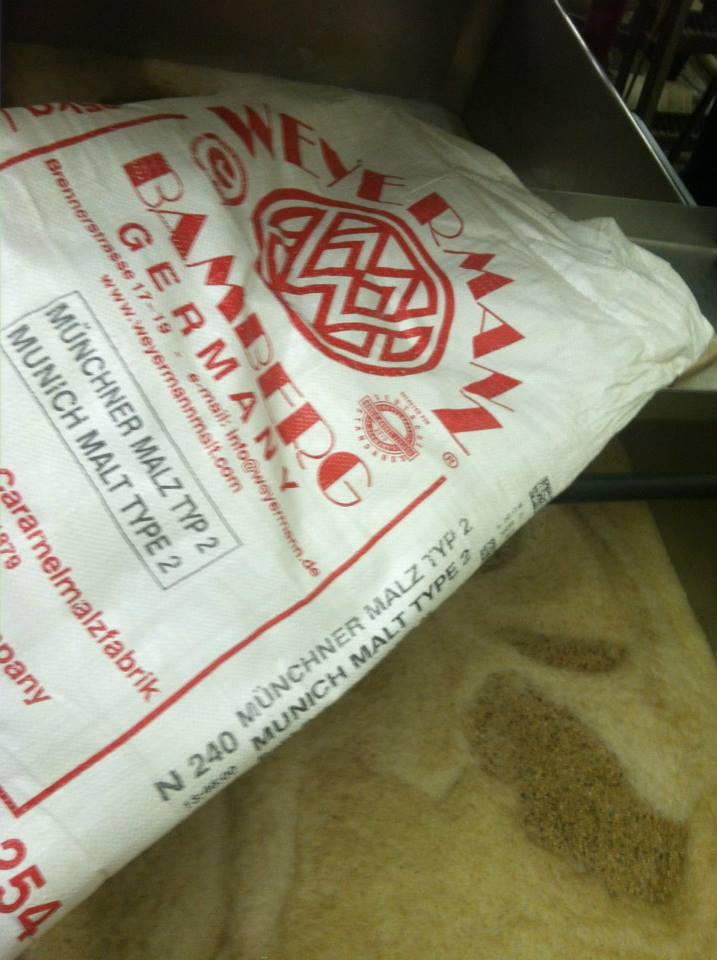Brewing Lake Superior Split Rock Bock with malt from Fitger's Brewhouse // Courtesy of Lake Superior Brewing Company