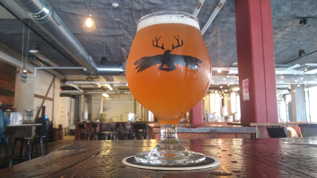 Lakes And Legends' Harmony Farm Saison, brewed with lavender, lemon, and grains of paradise to become All Are Welcome Beer