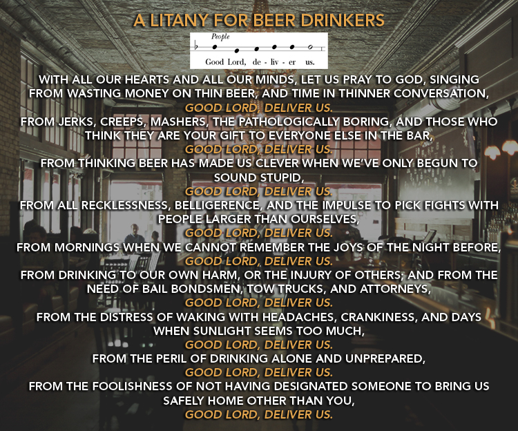 Litany for Beer Drinkers