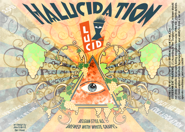 Lucid Brewing Hallucidation // Courtesy of Lucid Brewing Company