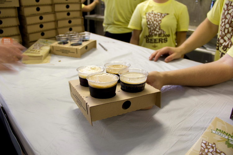 Flight at Land of 10,000 Beers, Minnesota State Fair 2014 // Photo by Brian Kaufenberg