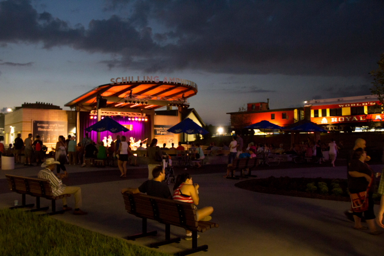 The Schell's Stage, Minnesota State Fair 2014 // Photo by Brian Kaufenberg