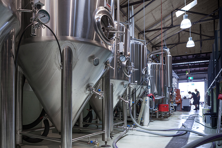 Newstead Brewing brewhouse // Photo courtesy of Newstead Brewing