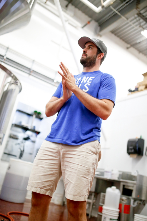 Tuck Carruthers of NorthGate Brewing // Photo by Aaron Davidson