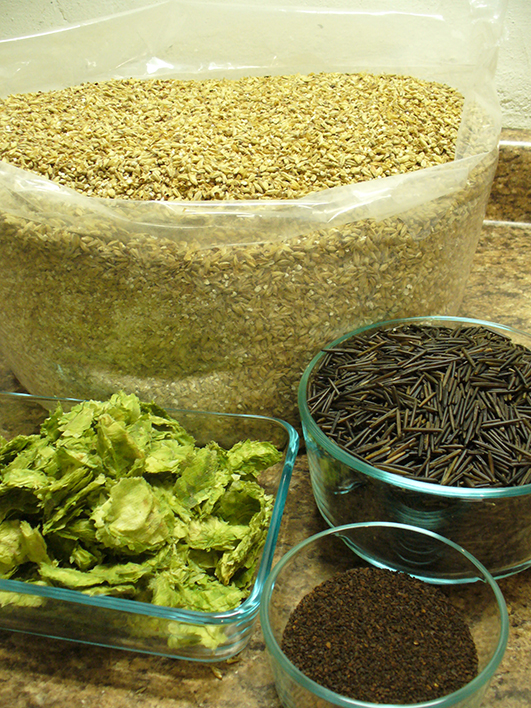 Wild Root Brown Ale Ingredients // Photo courtesy of The Wedge Community Co-op