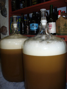 Fermenters with Wild Root Brown Ale