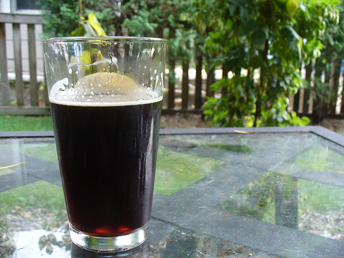 Wild Root Brown Ale using ingredients from The Wedge Community Co-op