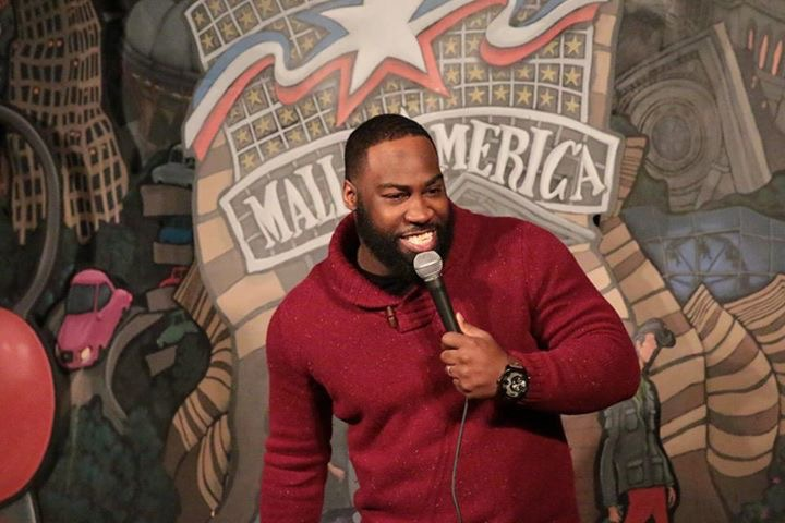 Comedian Pierre Douglas performing at Rick Bronson's House of Comedy // Photo via Facebook