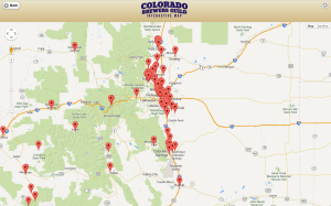 Colorado Beer Map - Interstate 25 // Courtesy of Colorado Craft Brewers Guild