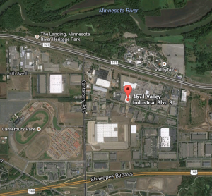 Badger Hill's new brewery located in Shakopee // Imagery ©2014 Google Map Data