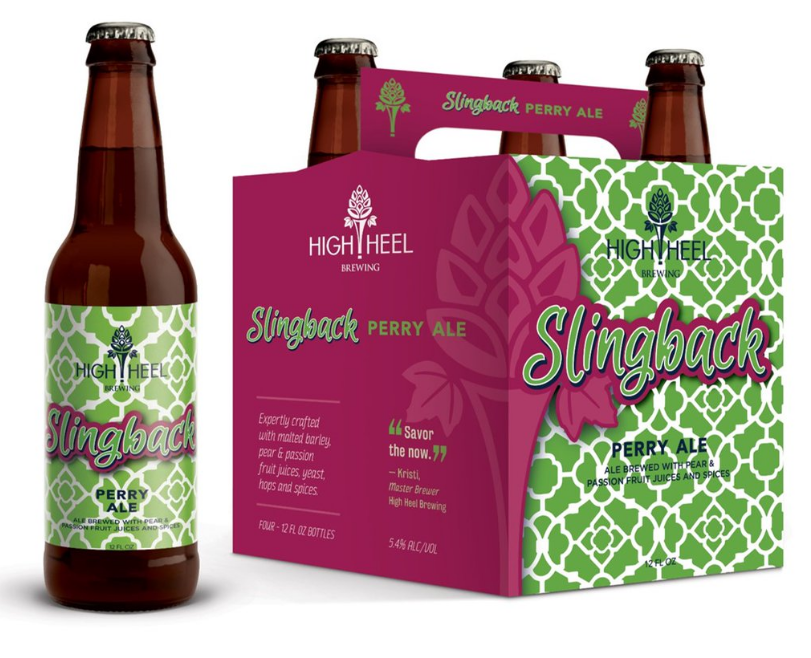 Slingback Perry Ale is one of High Heel Brewing's two beers that are specifically geared toward women // Image via @highheelbeer