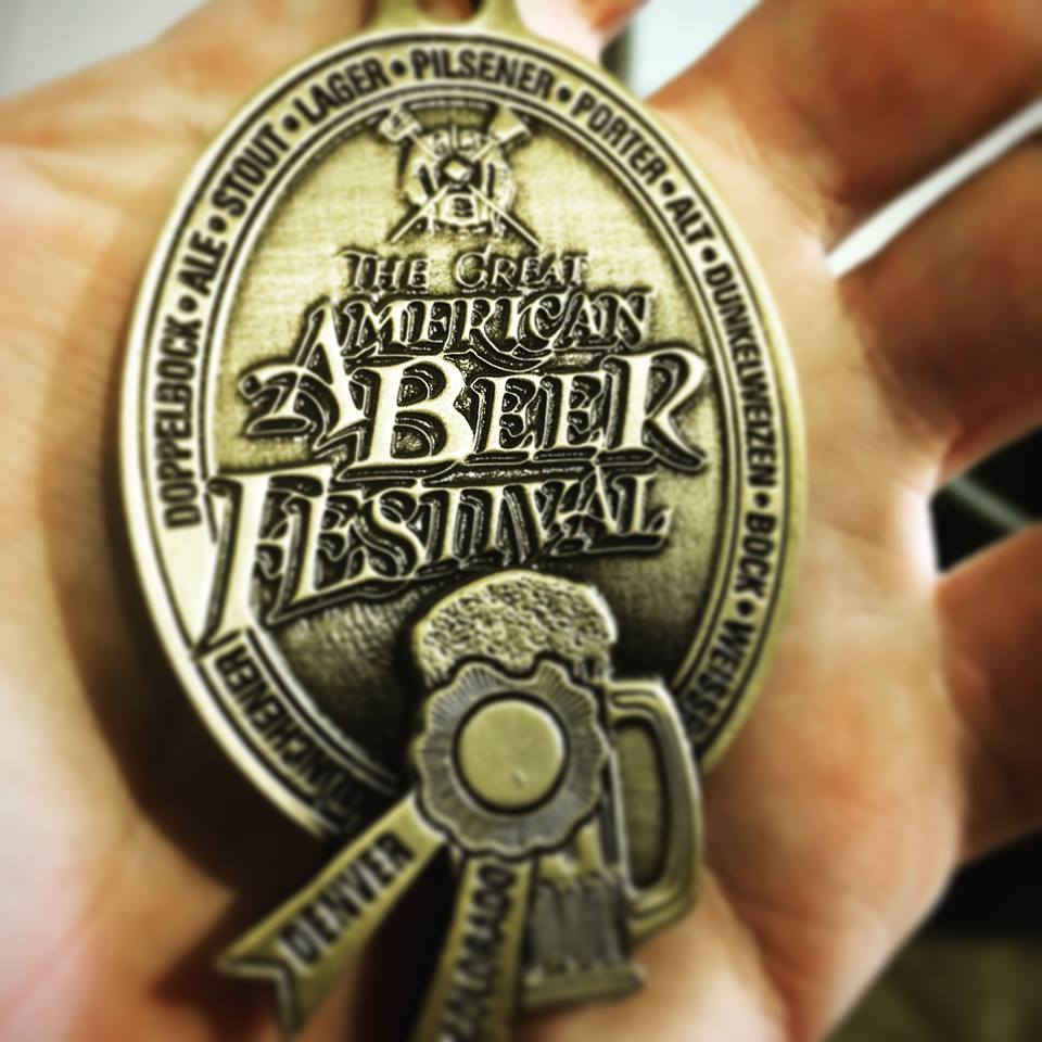 Gold medal from the Great American Beer Festival // Photo via facebook.com/surlybrewing