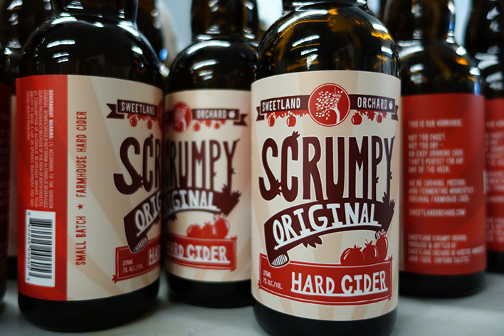 Bottles of Sweetland Orchard's Scrumpy Original // Photo courtesy Sweetland Orchard
