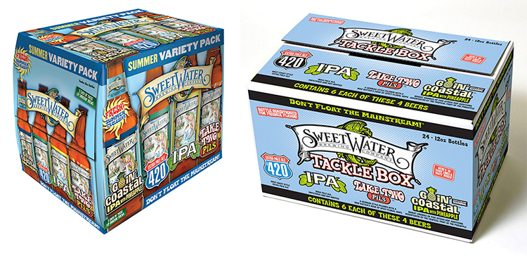 Examples of the sampler packs stolen from Sweetwater's trucks // Photos via facebook.com/sweetwaterbrew