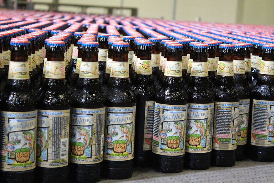 Sweetwater bottling line // Photo courtesy of Sweetwater's Facebook