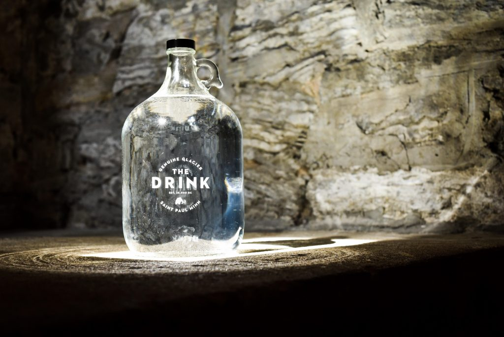 The Drink is the new brand name for the water under the Historic Schmidt Brewery in St. Paul // Photo by Kevin Kramer