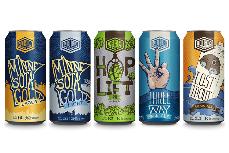Third Street Brewhouse's new 16-ounce cans