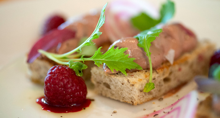 Smoked turkey liver mousse at Tiny Diner