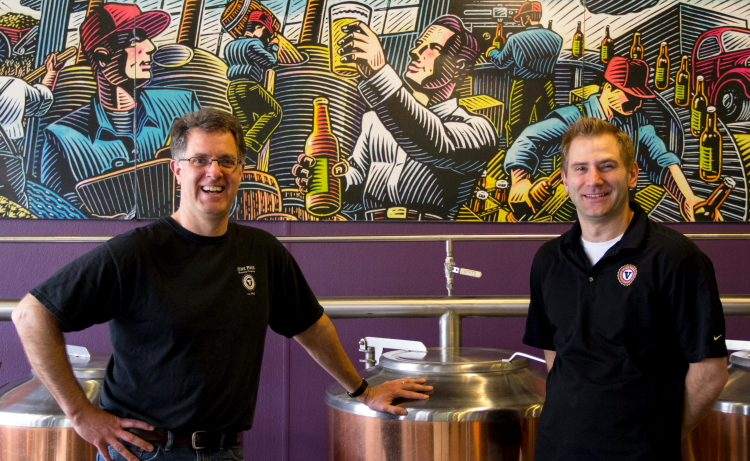 Vine Park Owner Andy Grage and Brewery Manager Tom Murphy // Photo by Brian Kaufenberg