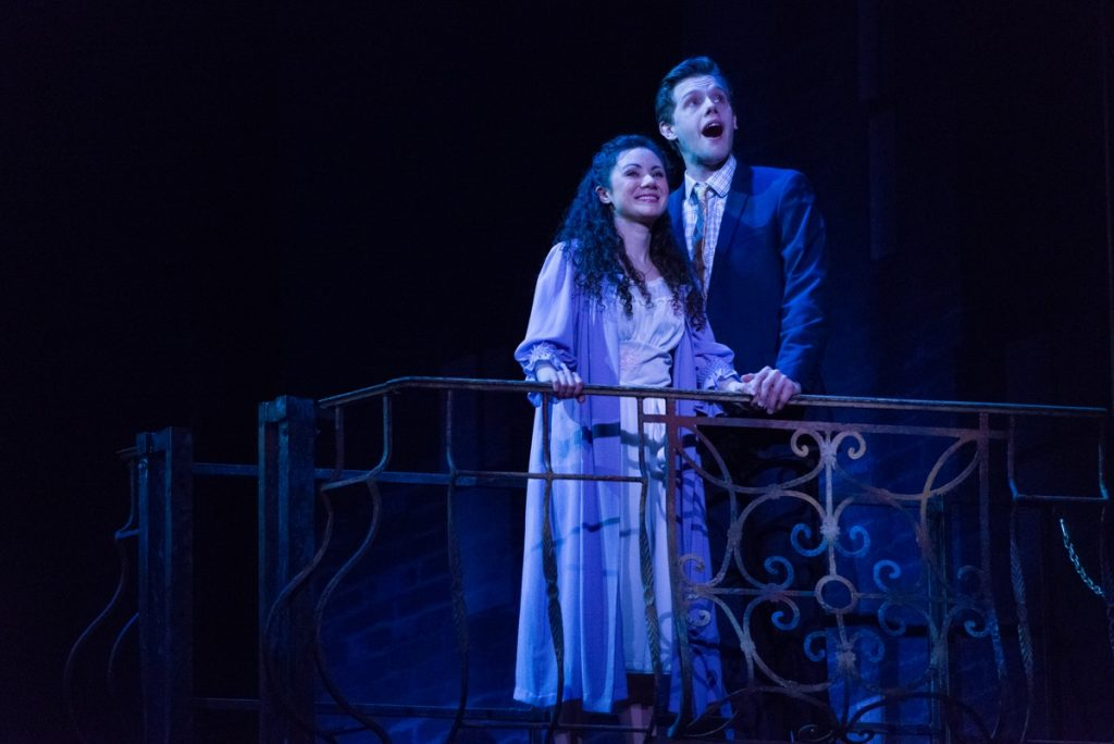 Evy Ortiz as Maria and Tyler Michaels as Tony in West Side Story // Photo by Rich Ryan
