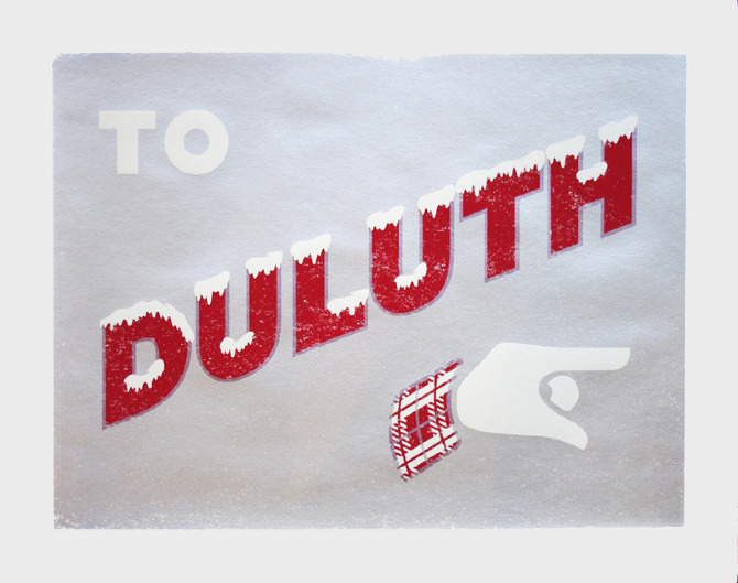 To Duluth Poster // By Nick Zdon