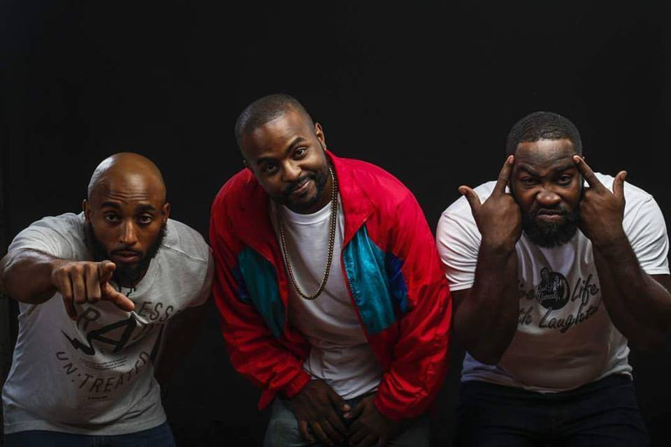 The Baddies Comedy Co. owners (L to R) Bruce Williams, Brandon Riddley, and Pierre Douglas