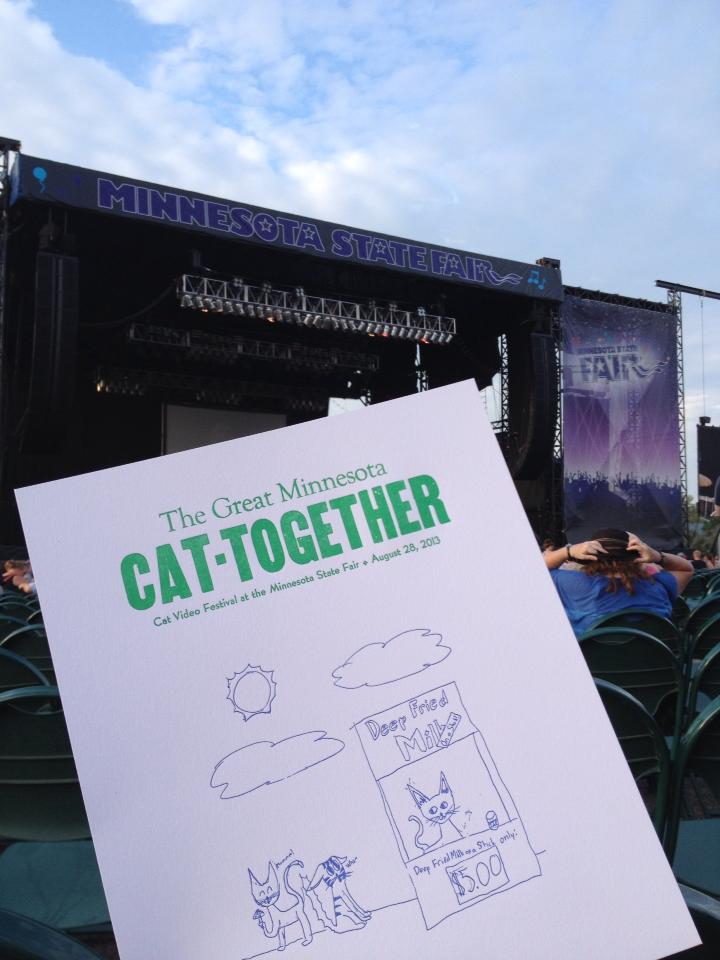 The 2014 Internet Cat Video Festival, held at the Minnesota State Fair Grandstand // Photo by Ellen Burkhardt