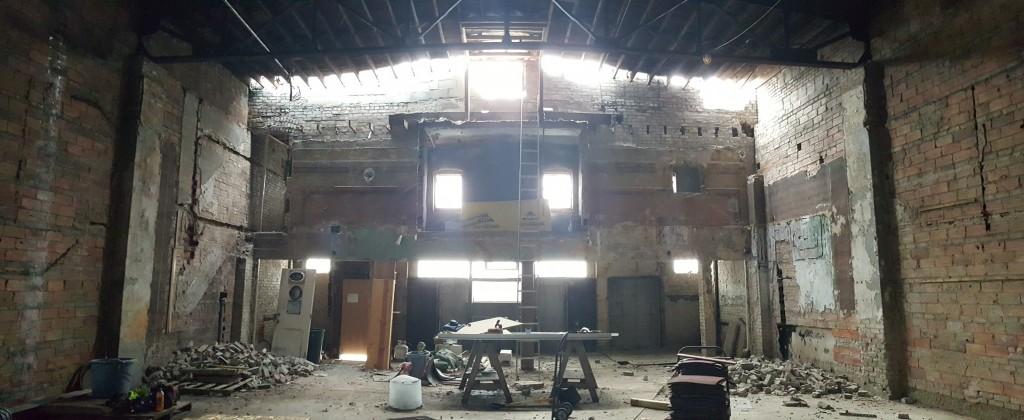 North Garden Theater, on West Seventh Street in St. Paul, is a work-in-progress. The owners hope to have it open by winter 2016. // Photo via City Pages