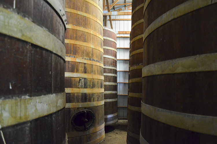 Schell's Cypress Unconditioned Tanks // Photo courtesy of Schell's Brewery