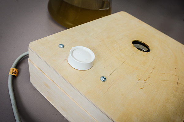 Speed control knob on the DIY stir plate // Photo courtesy of American Homebrewers Association