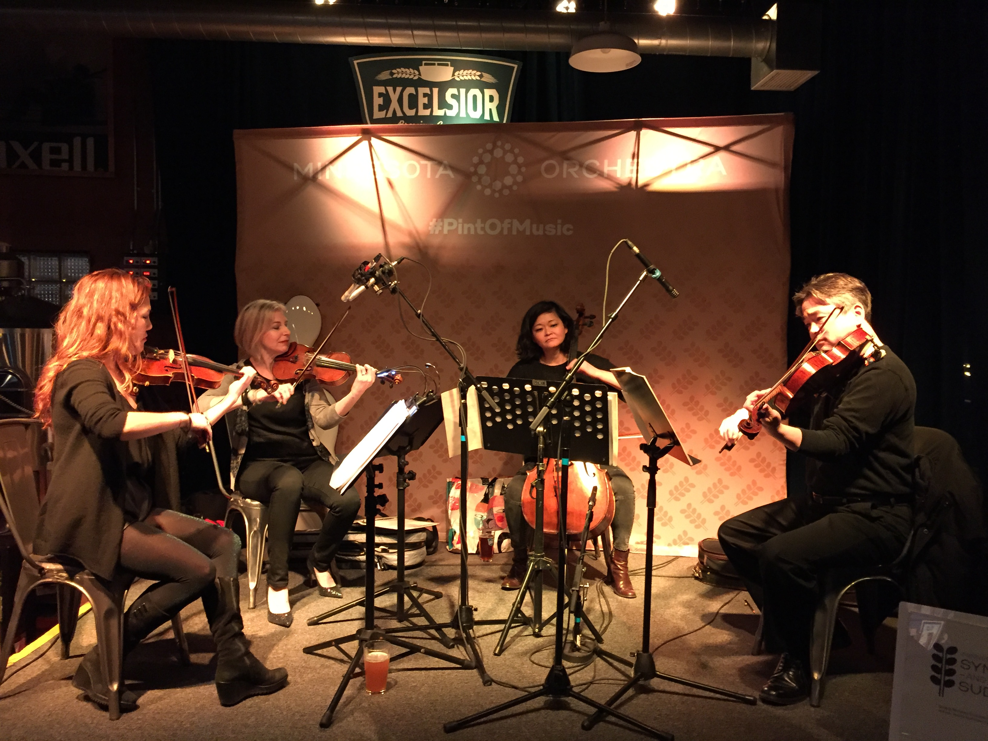 The string quartet performance at Excelsior Brewing Company on Saturday, January 30 // Photo courtesy Minnesota Orchestra