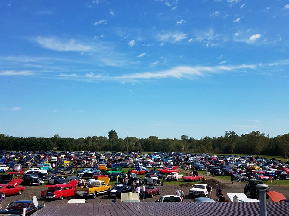 Car show at Blacksmith Lounge & Broaster // Photo via Blacksmith's Facebook