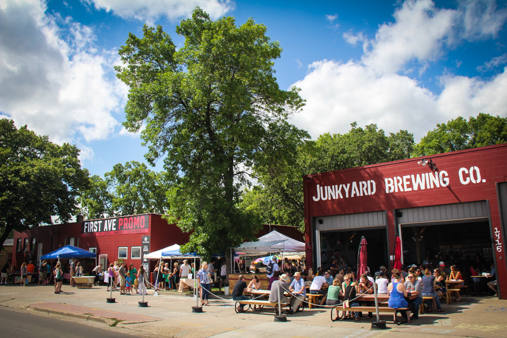 Junkyard Brewing's patio brings out all walks of life // Photo by Gia Rassier
