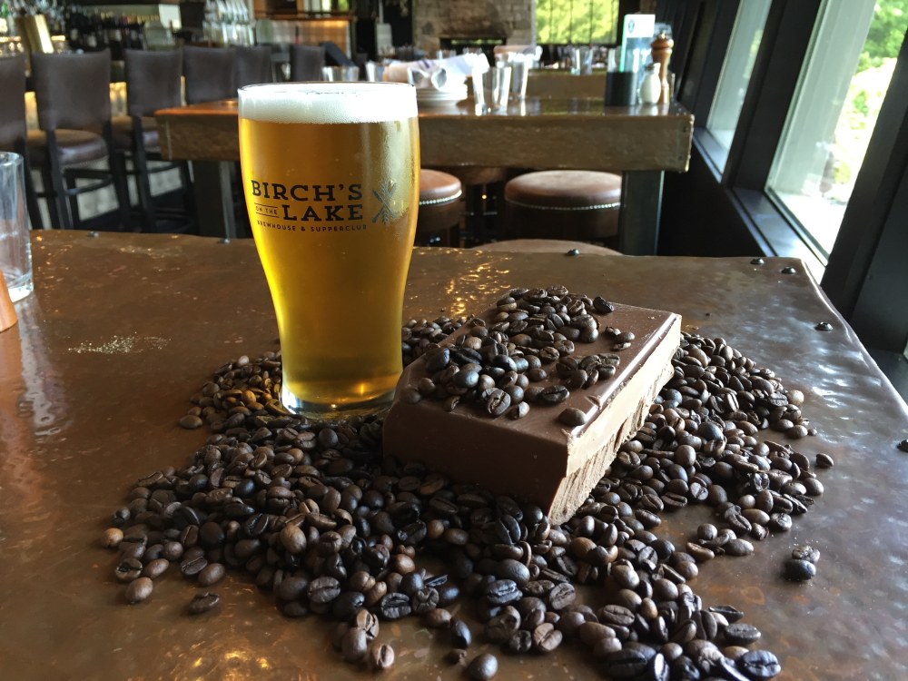 Birch's on the Lake Golden Coffee Chocolate Ale // Photo courtesy of Birch's on the Lake